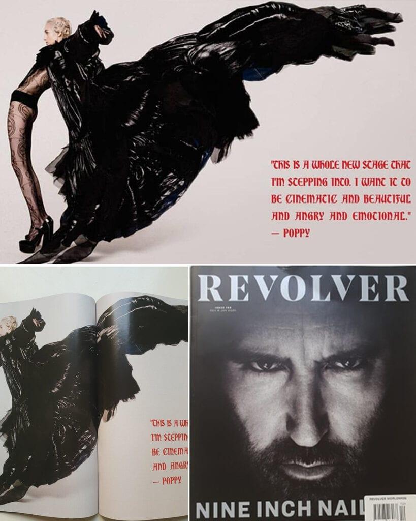 Poppy , The singer at REVOLVER Magazine - December 2019